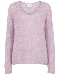 Second Female - Lula Lavender Knit Sweater - Lyst