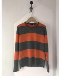 Roberto Collina Cashmere Blend Striped Jumper - Orange