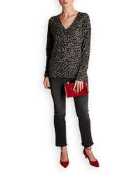 360cashmere - Diane V Neck Leopard Knit - Lyst