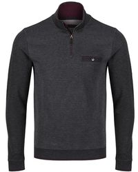 Ted Baker - Men's Hownd Half Zip Funnel Neck Jumper - Lyst