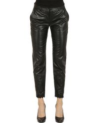 Philosophy - Leather Trousers In Black - Lyst