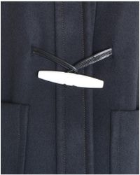 Marni - Double Felt Wool Coat In Blue Navy - Lyst