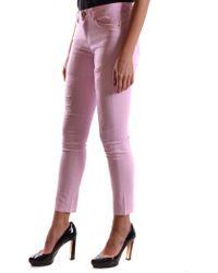 Pinko - Women's Fujico30p39 Pink Polyester Jeans - Lyst