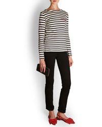 PAIGE - Straight Black Jeans - Lyst