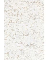 Essentiel - Pimono Off-white Floral Lace Top - Lyst