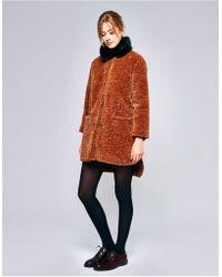 Bellerose - Epok Camel Faux Fur Coat - Lyst