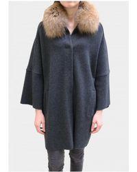 D. EXTERIOR - Grey Cocoon Fur Coat 45216 - Lyst