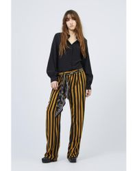 Rockins - Loose Trouser With Scarf Black/ Gold - Lyst