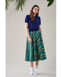 Emily and Fin - Sandy Multi Stripe Circle Skirt - Lyst