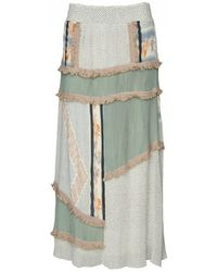 Cecilie Copenhagen - Cecilie Copenhagan Krystian Printed Maxi Skirt Pearl Blue - Lyst