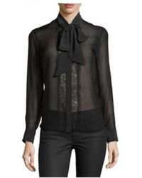 Equipment - Leema Tie Neck Silk Blouse - Lyst