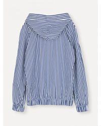 Libertine-Libertine - Palace Hoodie Blue White Stripe - Lyst