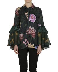 For Restless Sleepers - Shirt Green Flowers - Lyst