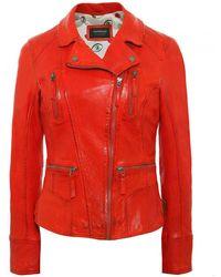 Oakwood - Camera Biker Leather Jacket - Lyst
