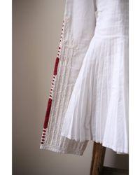 Mes Demoiselles - Artemis White Pleated Shirt - Lyst