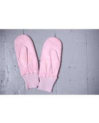 Hestra - Tina Parfait Pink Leather Mittens - Lyst