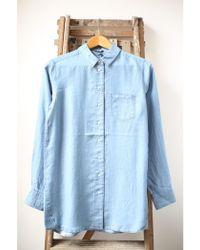 Denham - Stories Indigo Blue Shirt - Lyst