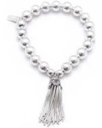 ChloBo - Medium Ball Bracelet With Tassel Charm - Lyst