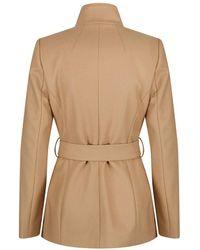 1c69407f43eeb4 Lyst - Ted Baker Women s Rytaa Short Wool Wrap Coat in Black