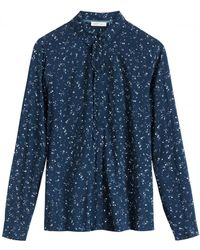 Sandwich - Blue Blouse With Frill - Lyst