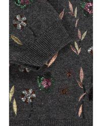 Essentiel - Embroidered Wool Sweater - Lyst