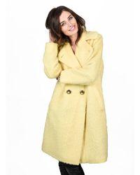 Orla Kiely - Winter Mohair Cocoon Coat Lemon Yellow - Lyst