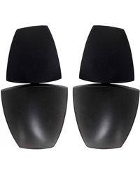 Monies - Clip On Ebony Gunmetal Earrings - Lyst
