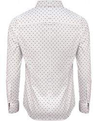 GANT - Ladies Stretch Oxford Print Dot Shirt - Lyst