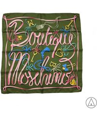 Boutique Moschino - Printed Scarf In Green - Lyst