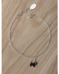 Amanda Coleman - Scottie Dog On A Lead Bracelet In Black - Lyst