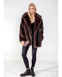 Urbancode - Malina Faux Fur Coat - Lyst
