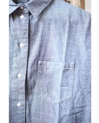 Denham - Stories Chambray Blue Shirt - Lyst