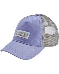 Patagonia - Pastel P-6 Label Layback Trucker Hat Light Violet Blue - Lyst