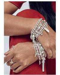 ChloBo - Mini Noodle Ball Filigree Feather Bracelet - Lyst