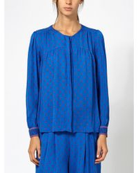 INTROPIA - Silk Patterned Blouse - Lyst