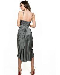 Nanette Lepore - Muse Silk Dress Soft Grey - Lyst