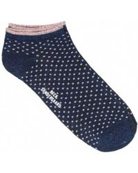 Becksöndergaard - Dolly Dot Sock In Medieval Blue - Lyst