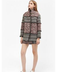 French Connection - Pixel Mix Coat - Lyst