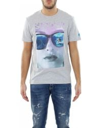 Sundek - T-shirt 'sunglasses' Cotton - Lyst
