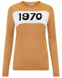 Bella Freud - 1970 Sparkle Jumper Gold - Lyst
