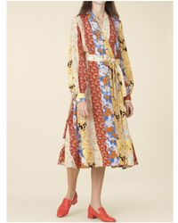 Stine Goya - Reflection Dress In Floral Wallpaper - Lyst