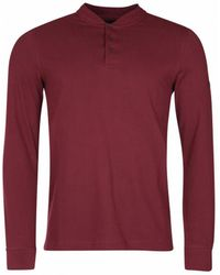 Barbour - Jump Long Sleeved Polo Shirt - Lyst