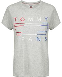 Tommy Hilfiger - Tommy Jeans Women's Clean Tommy Flag T-shirt - Lyst
