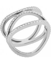 MICHAEL Michael Kors - Michael Kors Silver Brilliance Ring S - Lyst