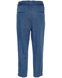 Part Two - Melvina Pants In Mid Blue Denim - Lyst