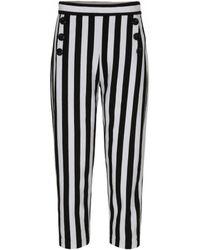 Day Birger et Mikkelsen - Striped Jersey Straight-leg Trousers - Lyst