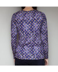 Atterley - Catherine Andre Dolores Fine Knit Top In Dotty Blue - Lyst