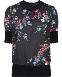 Ted Baker - Women's Natiee Opulent Fauna Short Sleeve Knit Top - Lyst
