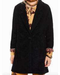 Maison Scotch - Bonded Wool Jacket In Navy Melange - Lyst