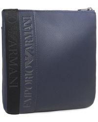 Armani - Armani Small Flat Messenger Bag - Lyst